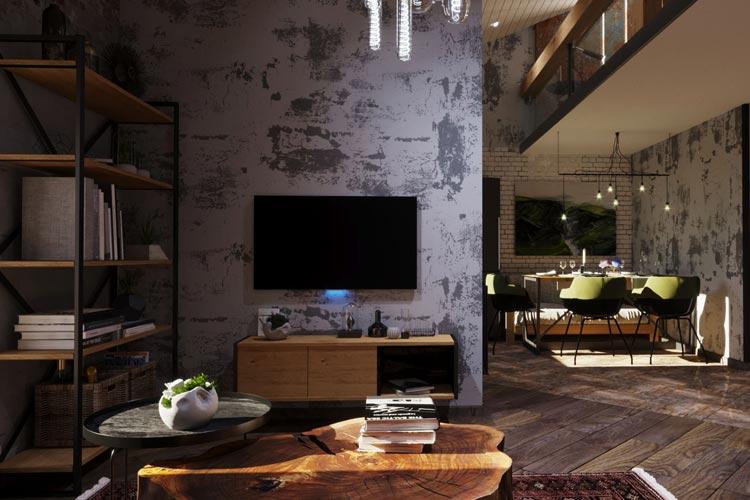 Дизайн квартири-мансарди в стилі лофт по вулиці Коновальця