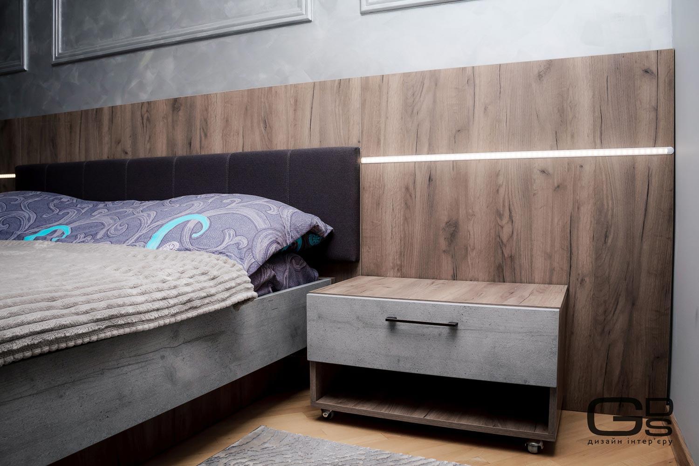Сучасна спальня в тонах морської хвилі